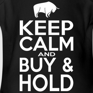 KEEP CALM AND BUY AND HOLD - Short Sleeve Baby Bodysuit