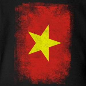 Vietnam Flag Proud Vietnamese Vintage Distressed - Short Sleeve Baby Bodysuit