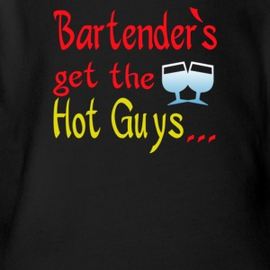 Bartender's get hot guys - Short Sleeve Baby Bodysuit