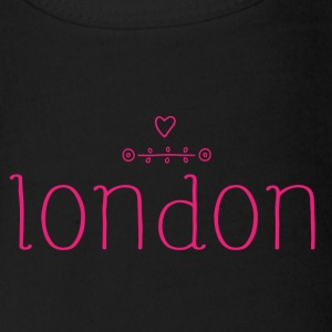 London Love Simple - Short Sleeve Baby Bodysuit