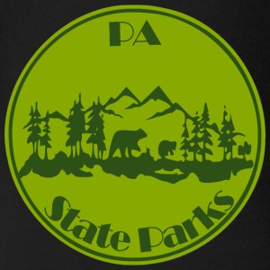PA State Parks Bear Green - Short Sleeve Baby Bodysuit