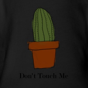 Don't Touch Me Cactus - Short Sleeve Baby Bodysuit