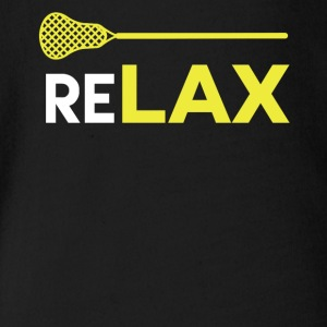 ReLAX Lacrosse Sticks T-Shirt - Short Sleeve Baby Bodysuit
