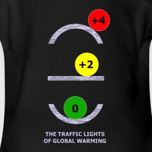 TRAFFIC LIGHTS OF GLOBAL WARMING - Short Sleeve Baby Bodysuit