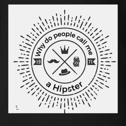 hipster5 - Organic Short Sleeve Baby Bodysuit