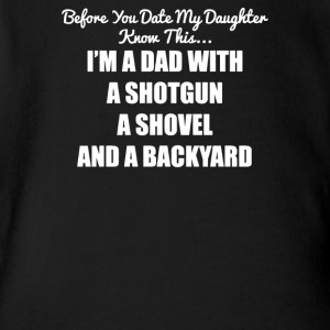 Before You Date Shotgun Dad Gun Rights Fathers Day - Short Sleeve Baby Bodysuit