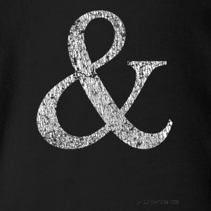Mens and Womens Distressed Ampersand Tshirt - Short Sleeve Baby Bodysuit