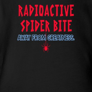 I'm Just A Radioactive Spider Bite - Short Sleeve Baby Bodysuit
