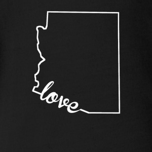Arizona Love State Outline - Short Sleeve Baby Bodysuit