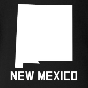 New Mexico State Silhouette - Short Sleeve Baby Bodysuit