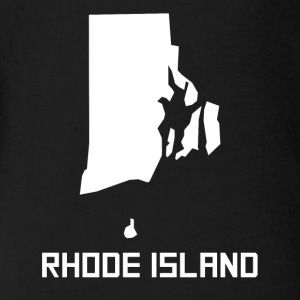 Rhode Island State Silhouette - Short Sleeve Baby Bodysuit