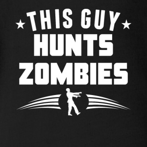 This Guy Hunts Zombies Funny Zombie - Short Sleeve Baby Bodysuit