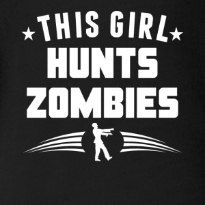 This Girl Hunts Zombies Funny Zombie - Short Sleeve Baby Bodysuit