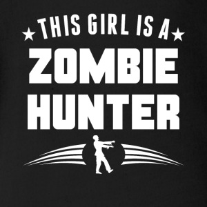 This Girl Is A Zombie Hunter Funny Zombie - Short Sleeve Baby Bodysuit