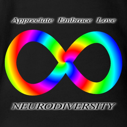 Embrace Neurodiversity with Swirl Rainbow - Organic Short Sleeve Baby Bodysuit