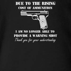 Cost of Ammo Pistol Guns Pro Guns Funny Hunting - Short Sleeve Baby Bodysuit