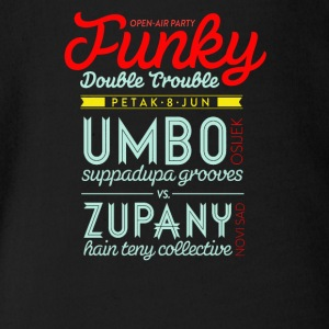 Open air party funky double trouble - Short Sleeve Baby Bodysuit
