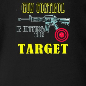 Gun Control is hitting the target - Short Sleeve Baby Bodysuit