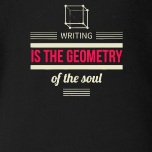 Writing is the geometry of the soul - Short Sleeve Baby Bodysuit