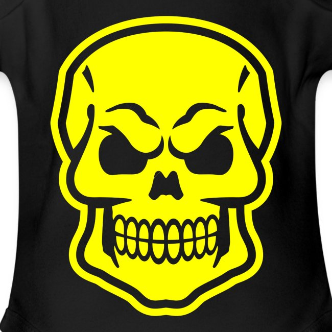 Skull vector yellow