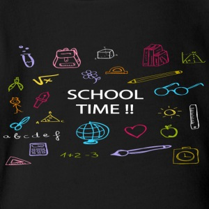 School Time - Short Sleeve Baby Bodysuit