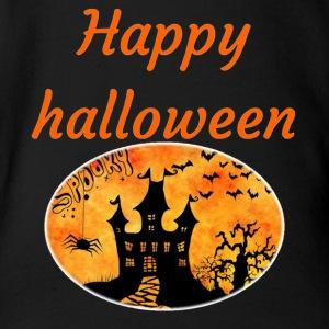 happy halloween - Short Sleeve Baby Bodysuit