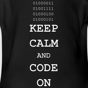Keep Calm and Code On - Short Sleeve Baby Bodysuit