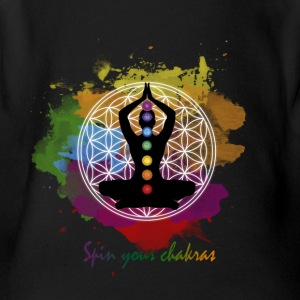 SPIN YOUR CHAKRAS - Short Sleeve Baby Bodysuit