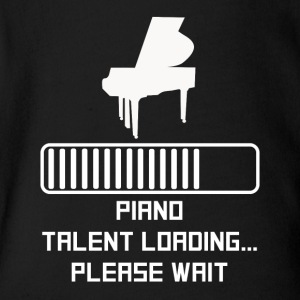 Piano Talent Loading - Short Sleeve Baby Bodysuit