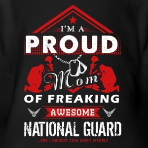 Proud Mom Of Awesome National Guard Shirt - Short Sleeve Baby Bodysuit