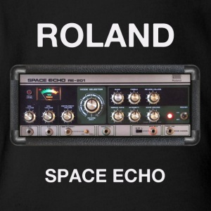 vintage space echo - Short Sleeve Baby Bodysuit