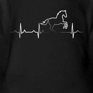 Horse Heartbeat Tshirt - Horse Lovers Shirt - Short Sleeve Baby Bodysuit