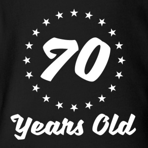 70 Years Old - Short Sleeve Baby Bodysuit