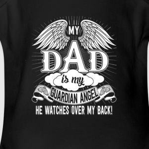 my_dad_is_my_guardian_angel - Short Sleeve Baby Bodysuit