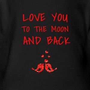 love you to the moon and back - Short Sleeve Baby Bodysuit