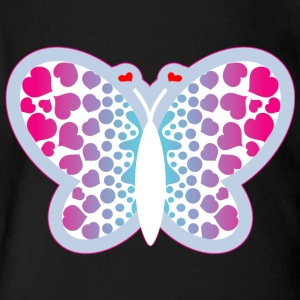 BUTTERFLY WITH HEART - Short Sleeve Baby Bodysuit