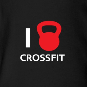 I love crossfit! - Short Sleeve Baby Bodysuit