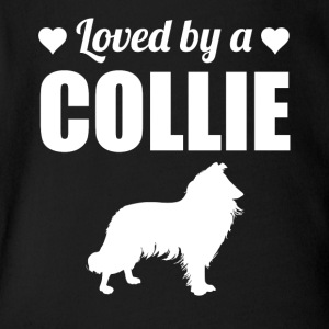 Loved By A Collie - Short Sleeve Baby Bodysuit