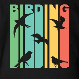 Vintage Birding Birdwatching Graphic - Short Sleeve Baby Bodysuit