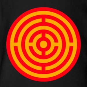 Red and Yellow Target Labyrinth - Short Sleeve Baby Bodysuit