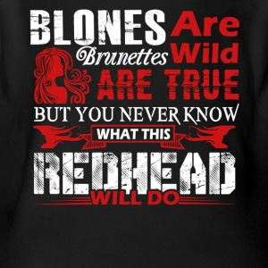 What This Redhead Will Do Shirt - Short Sleeve Baby Bodysuit