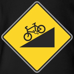 Road_Sign_angle_bicycle_way - Short Sleeve Baby Bodysuit