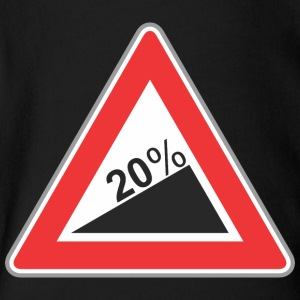 Road_Sign_20_percent_angle - Short Sleeve Baby Bodysuit