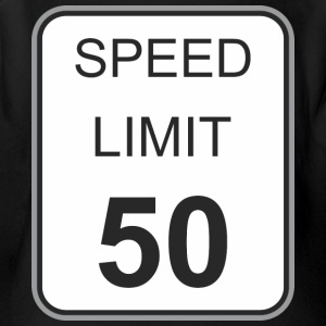 Road_sign_speed_limit_50 - Short Sleeve Baby Bodysuit