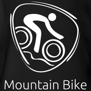 Mountine_bike_white - Short Sleeve Baby Bodysuit