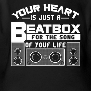 Your heat is just a beatbox Shirt - Short Sleeve Baby Bodysuit