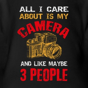 Camera T-shirt design - Short Sleeve Baby Bodysuit