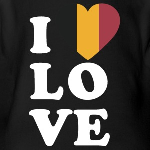 I love Belgium - Short Sleeve Baby Bodysuit
