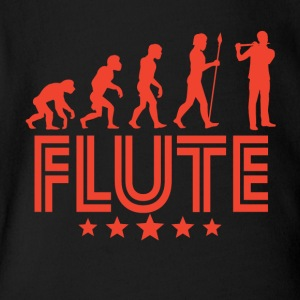 Retro Flute Evolution - Short Sleeve Baby Bodysuit