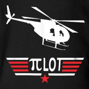 Pi Day Helicopter Pilot Shirt - Short Sleeve Baby Bodysuit